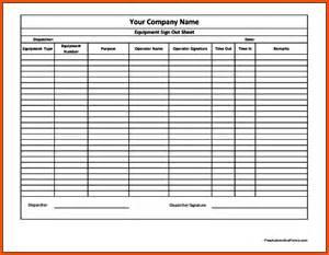equipment sign out sheet template calendar cover sheet calendar template 2016