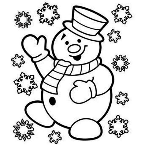 christmas coloring pages snowman mr snowman is very happy for christmas coloring page