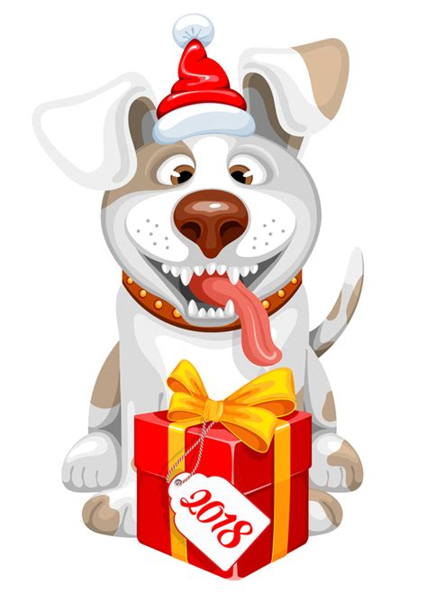 new year 2018 year of what animal 2018 new year gift with vector vector animal free
