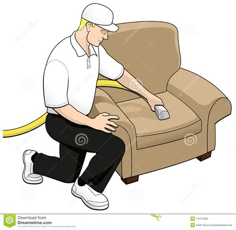 Furniture Upholstery Prices Upholstery Cleaning Tech Clip Art Stock Illustration