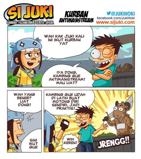 film kartun pendidikan komikstrip kurban antimainstream si juki