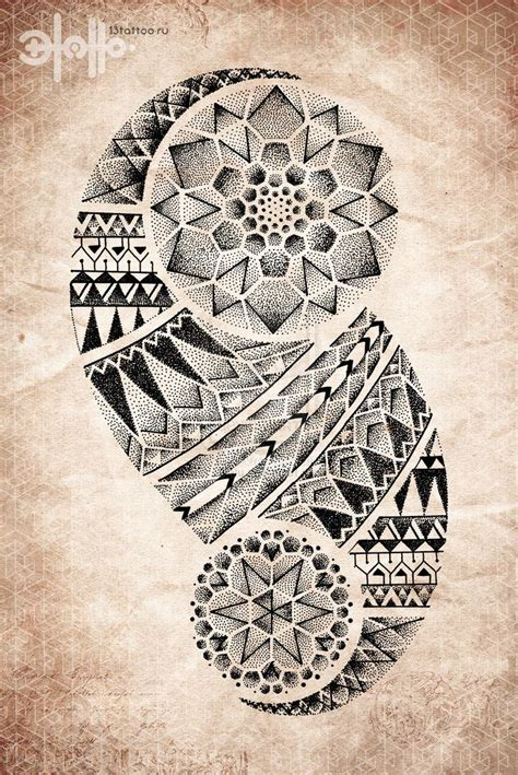 tattoo mandala tribal geometric tribal tattoo tattoos dotwork pointillism