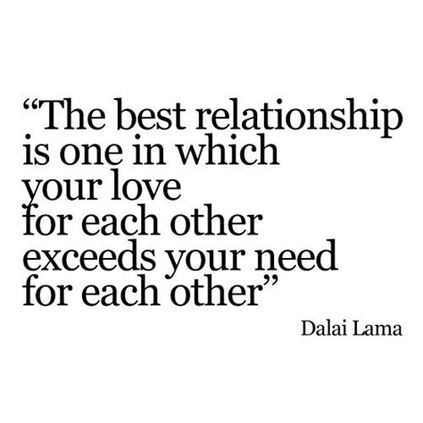 Wedding Quotes Dalai Lama by Quot The Best Relationship Is One In Which Your For Each