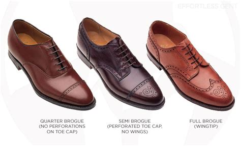 Brogue Oxfords the difference between oxfords and bluchers and what are
