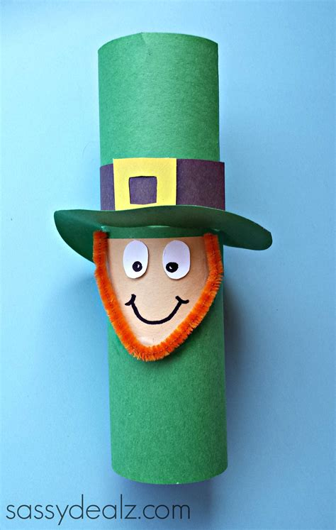 Leprechaun Paper Craft - leprechaun toilet paper roll craft for st s day