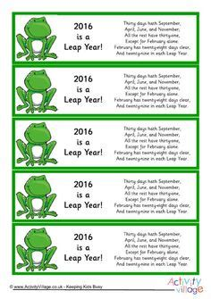 Calendar Rhyme 1000 Images About Leap Year For On Leap