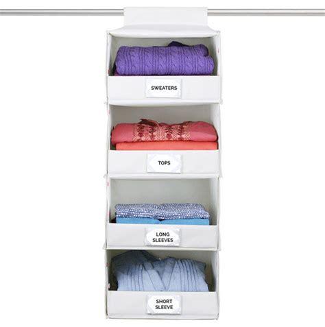 4 shelf hanging closet organizer deluxe 4 shelf hanging storage traditional closet