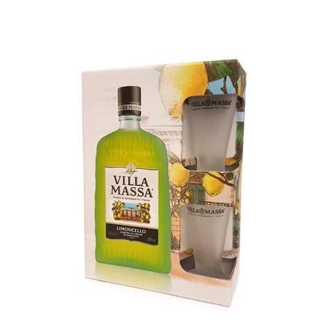 bicchieri limoncello limoncello 0 5l con bicchiere villa massa eataly