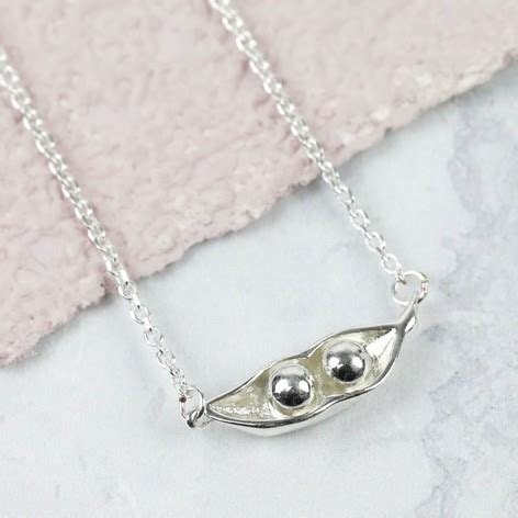 sterling silver two peas in a pod necklace - Two Peas In A Pod Jewelry