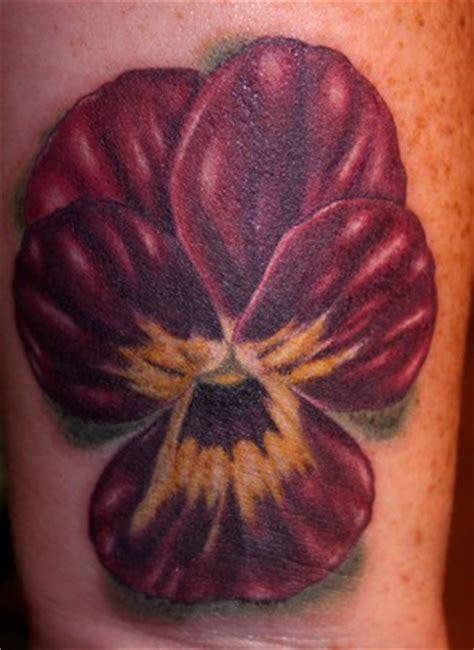 hope gallery tattoo gallery tattoos tim harris pansy flower