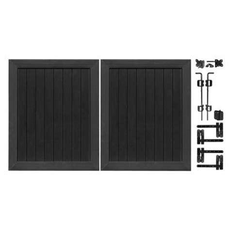 veranda pro series 5 ft w x 6 ft h black vinyl anaheim