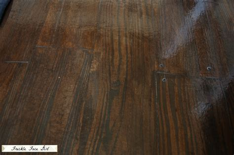 fake wood floor remodelaholic faux wood plank floors using brown paper