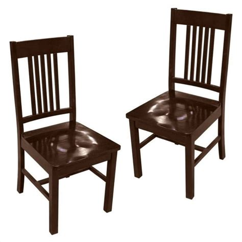 walker edison meridian dining chair cappuccino set of 2