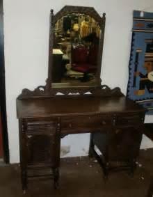 antique oak vanity dresser with mirror ebay