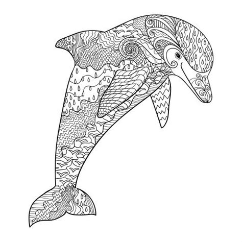 advanced dolphin coloring pages 145 best images about mandalas and adult coloring pages on