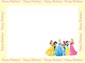 disney princess invitation templates 6 free borders for birthday invitations