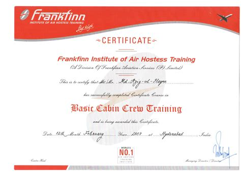 air cabin crew courses mohammed aziz bayt