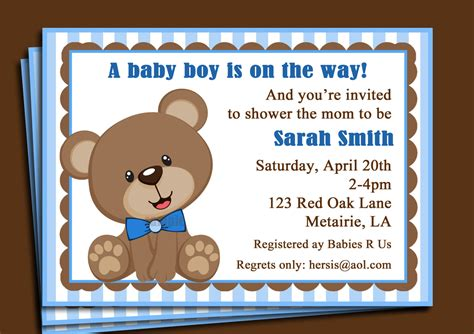 Teddy Baby Shower Invitation Template Free by Teddy Baby Shower Invitations Teddy Baby Shower