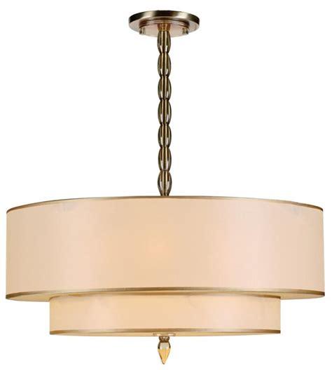 5 light drum shade chandelier crystorama luxo 5 light drum shade brass chandelier