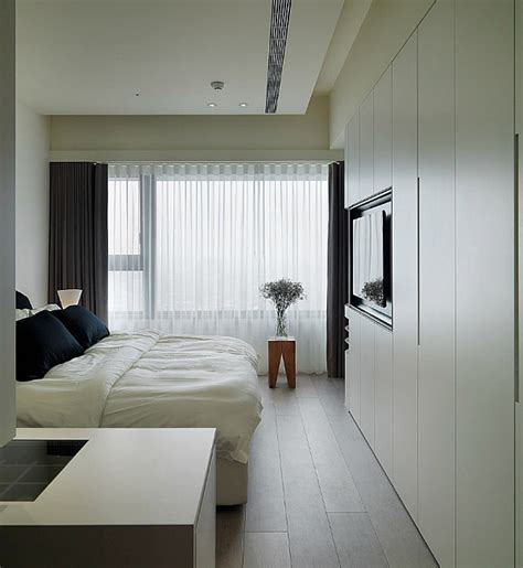 modern asian bedroom modern apartment plan with neutral colors and bold accents