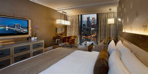 Ceiling To Floor Curtains by Deluxe Room In Marina Bay Sands Singapore Hotel