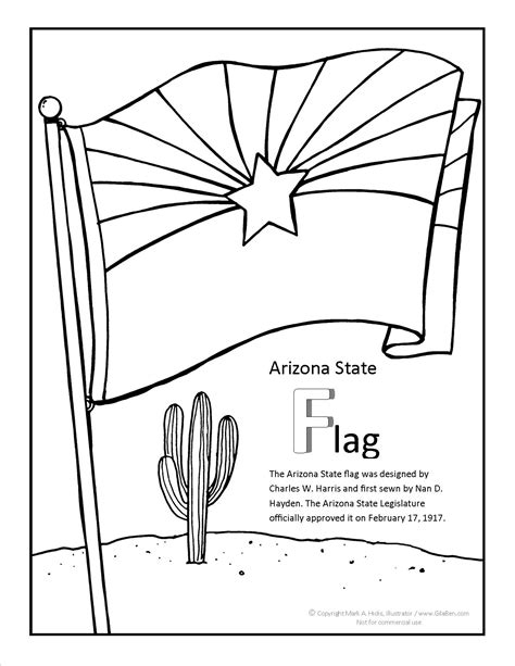 arizona flag coloring page