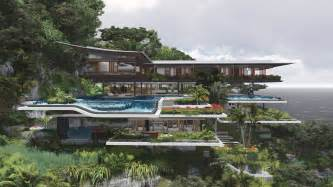 concept home poetic home design concept perches on cliff overlooking sea modern house designs