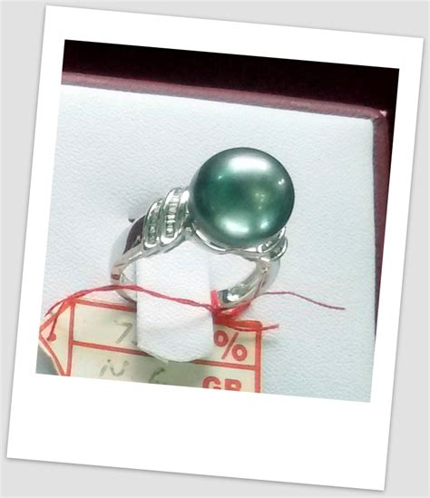 Cincin Handmade - handmade gold ring with south sea pearl ctr 120 harga