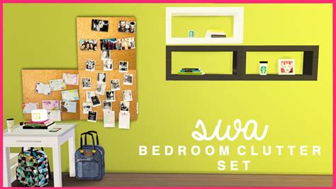 tumblr bedroom clutter sims 4 cc the sims 4 simmingwithabbi bedroom clutter set cc youtube