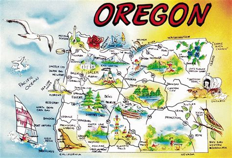 map of oregon landmarks maps update 16701145 oregon tourist map large tourist