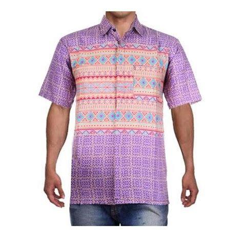 baju atasan pria hem pria kemeja motif batik warna soft david 5 warna size m l xl