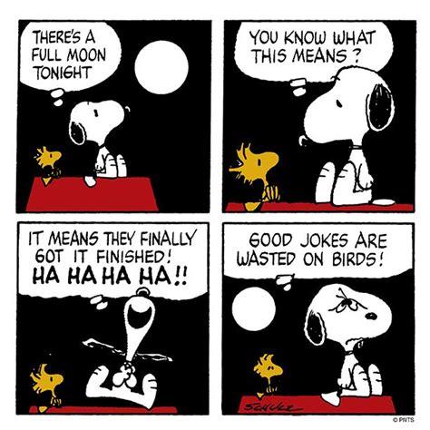 A Joke by Snoopy Tells Woodstock A Joke Today S Comic