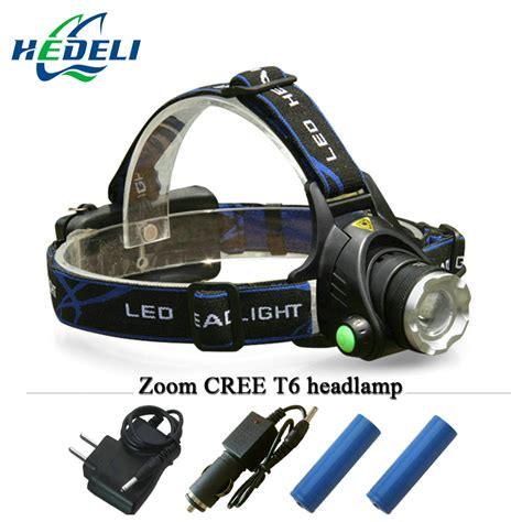 cree led rechargeable headl light portable zoom xm l2 headl cree xml t6 rechargeable led