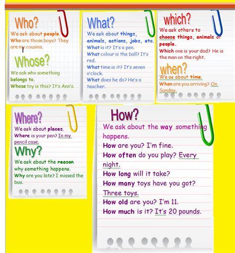 preguntas en ingles wh questions wh questions english for life