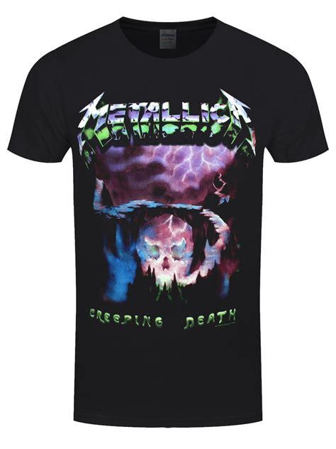 Tshirt Guitar Metalica April Merch metallica creeping s black t shirt buy at grindstore