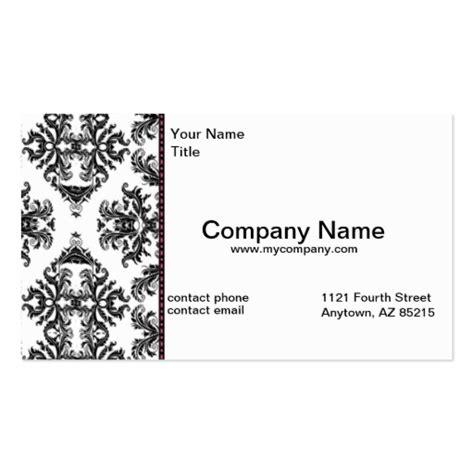 Loz Block 9824 black white damask business modern card standard