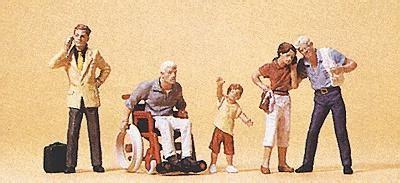 Preiser 10479 3 In Wheelchair pedestrians passers by wheelchair 5 model railroad