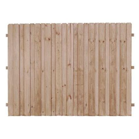 home depot fence sections 6 ft x 8 ft pressure treated pine 4 in board on board