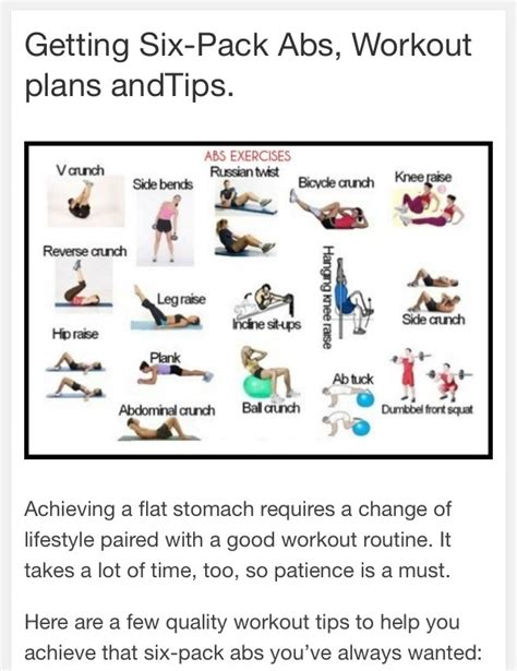 getting six pack abs workout plans and tips trusper