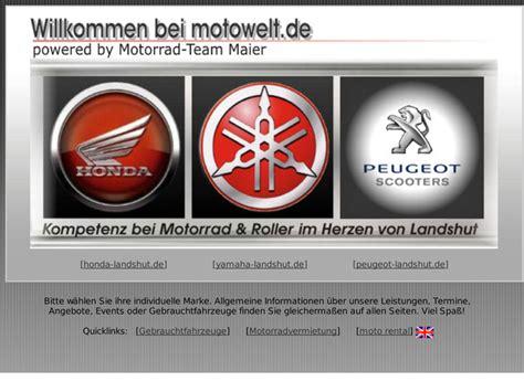 Motorrad Anmelden Und T V by Motorrad Maier Gmbh Co Kg In Landshut Motorradh 228 Ndler