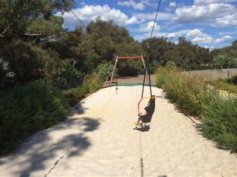 flying fox swing woodbridge riverside park