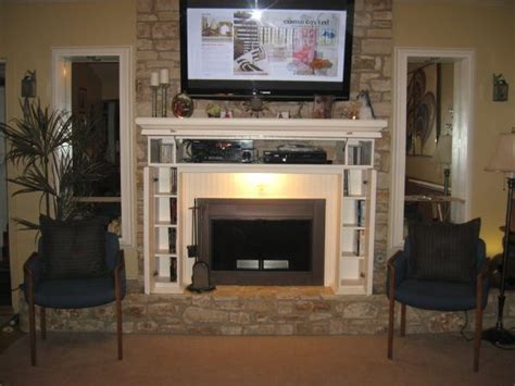 fireplace storage fireplace mantel with storage home pinterest