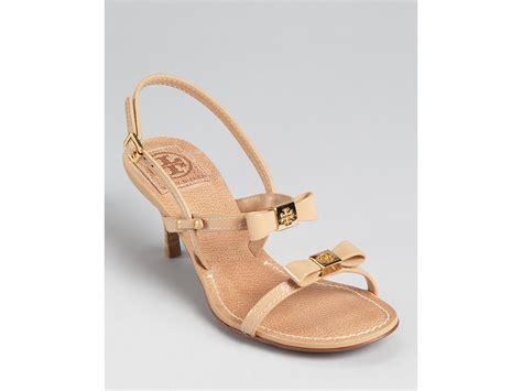 burch black sandals burch sandals kailey low heel in black lyst