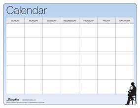 Blank One Month Calendar Template by One Month Calendar Laminating Templates