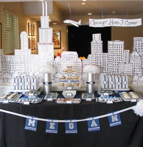 Table Shower Chicago by Chicago Themed Graduation Table
