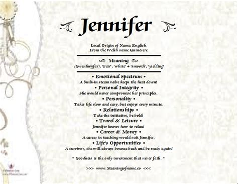 behind meaning jennifer meaning of name