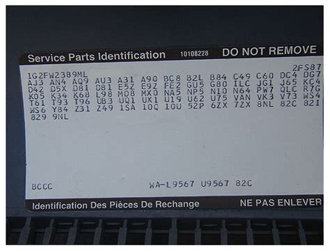 service parts identification decoder autos weblog