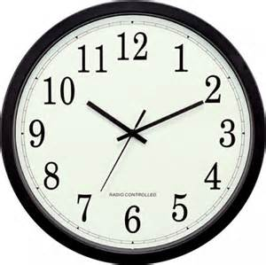 clockway stretton 14inch atomic analog wall clock plr6212