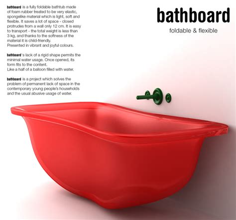 foldable bathtub a bouncy bath yanko design