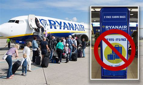 ryanair cabin baggage ryanair luggage airline scraps two bag allowance in